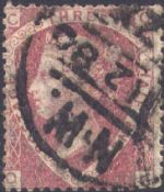 1870 1½d Rose-red SG51 Plate 3 'QC'